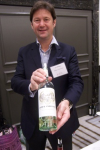 Eric Perrin, proprietor, Château Carbonnieux, Pessac-Léognan, with his 2014 white